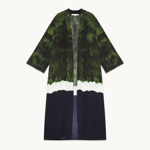 Veste de kimono imprimée Tie and Dye - Vestes - MAJE