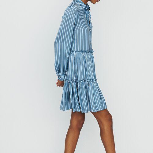 마쥬 스트러이프 러플 원피스 MAJE RODESA Robe-chemise A rayures avec volants,Rayure