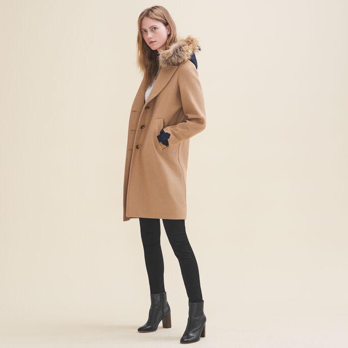 Manteau long en laine et cachemire - Manteaux - MAJE