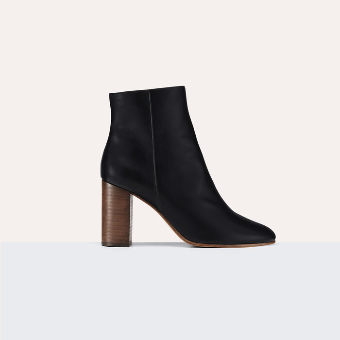 Bottines en cuir - Chaussures - MAJE