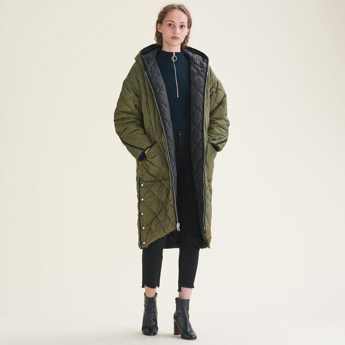 Manteau long à carreaux - Manteaux - MAJE
