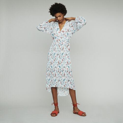마쥬 롱 원피스 MAJE RASIONA Robe longue imprimee A plisse bijou,IMPRIME