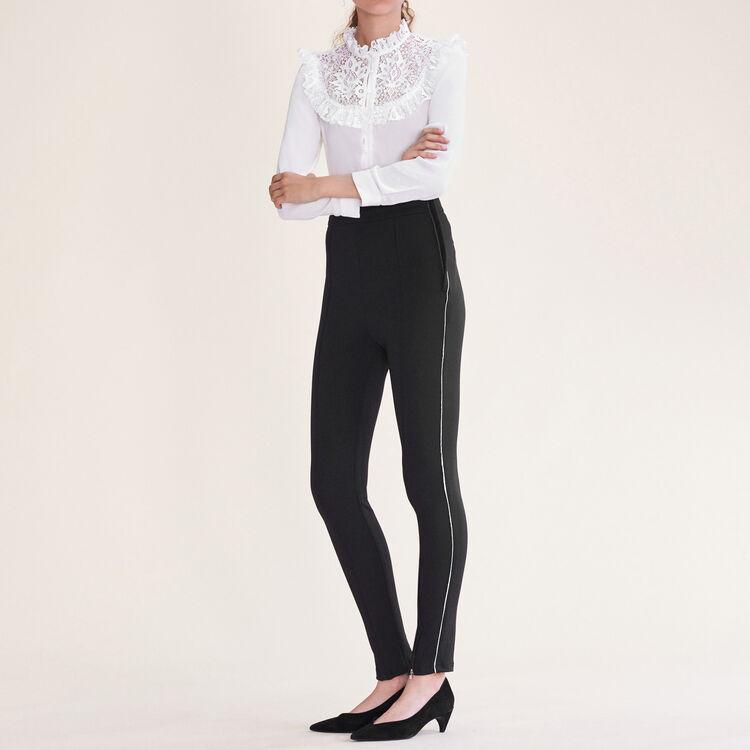 마쥬 바지 MAJE PRESY Legging avec multi-zip,Black