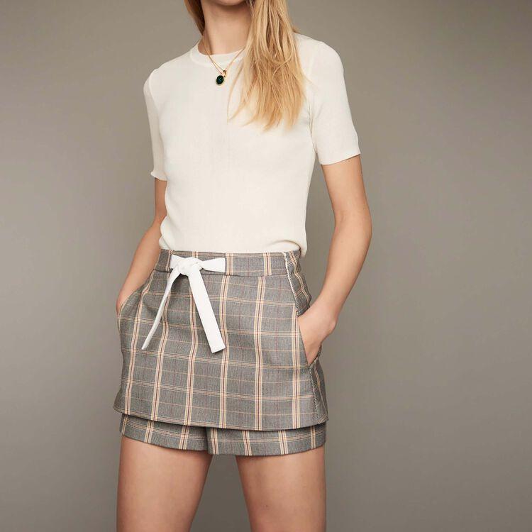 마쥬 치마 바지 MAJE ILA - Short A carreaux - Jupes & Shorts