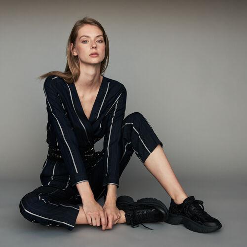 마쥬 MAJE PANTI Combinaison-pantalon A rayures,Marine