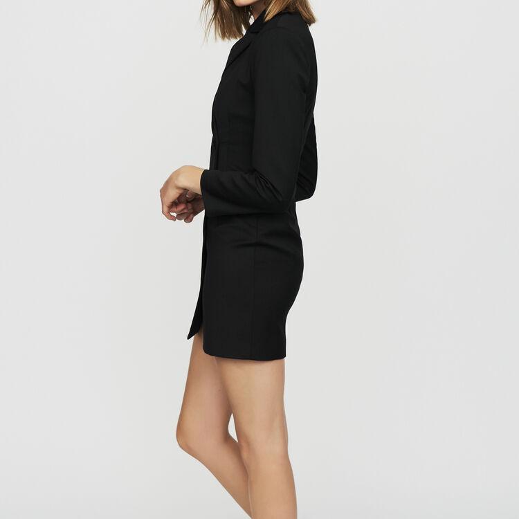 마쥬 RELENE 블레이저 원피스 블랙 [30% 할인!]  MAJE RELENE Robe-veste en laine melangee,Black