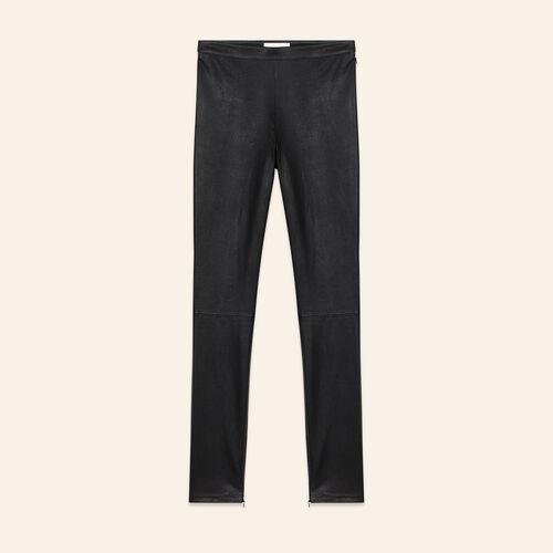 Legging en cuir stretch - Pantalons - MAJE
