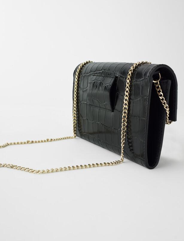 마쥬 벨트백 MAJE 220BWALK Porte-monnaie ceinture en cuir embosse