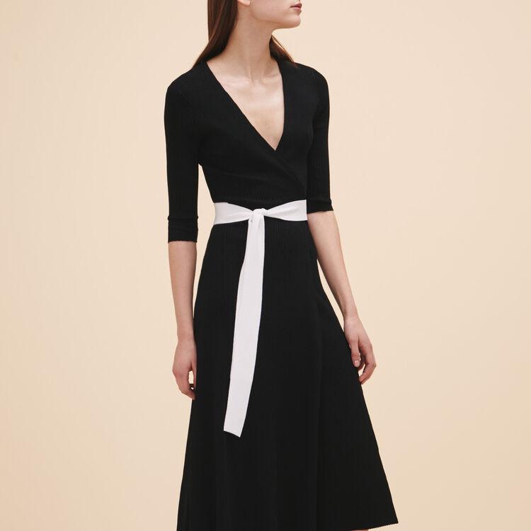 Robe longue en maille - Robes - MAJE
