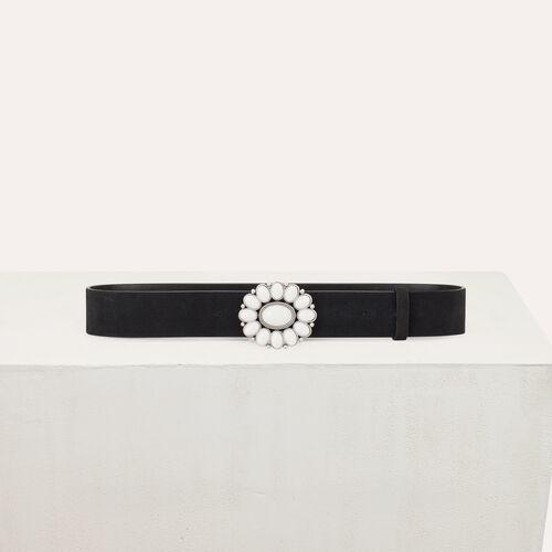 마쥬 MAJE ANABEL Ceinture pantalon avec boucle fleur,Black