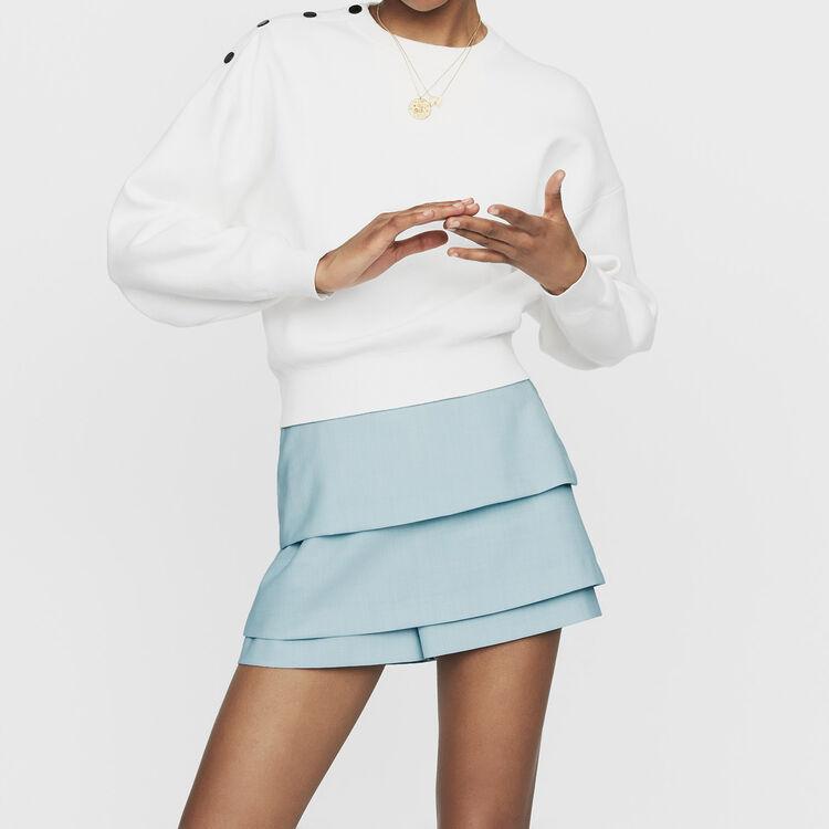 마쥬MARLINA 숄더 버튼 스웨터 (김희선 착용) MAJE MARLINA Pull avec boutons epaules