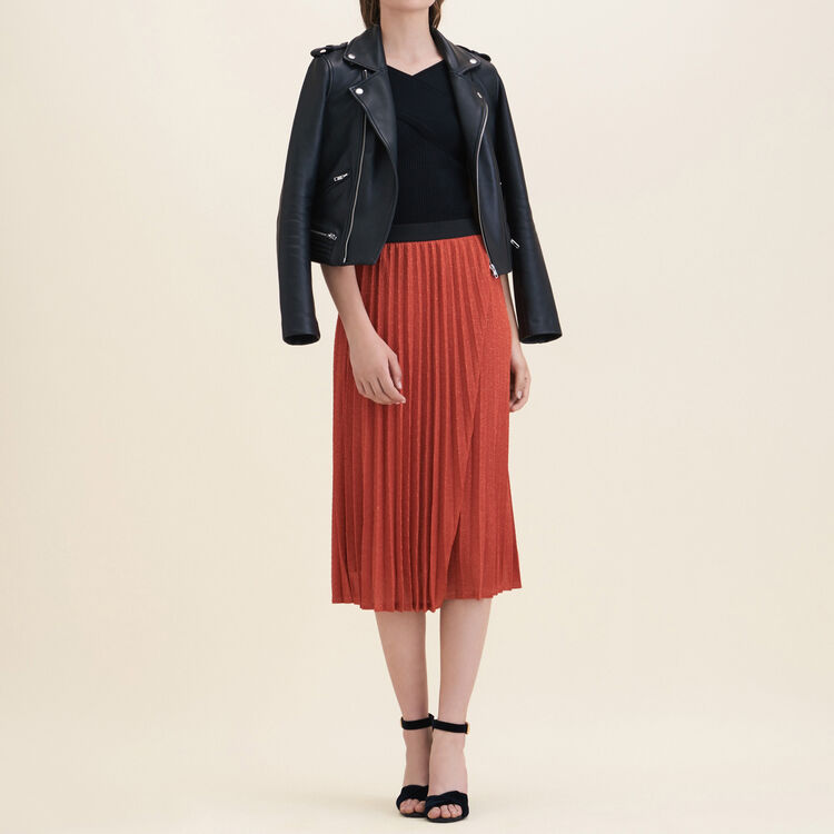 Jupe plissée en maille Lurex - Jupes & Shorts - MAJE