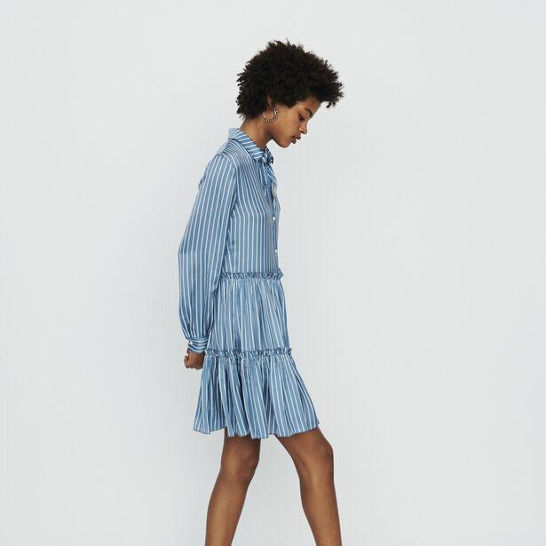 마쥬 MAJE RODESA Robe-chemise A rayures avec volants,Rayure