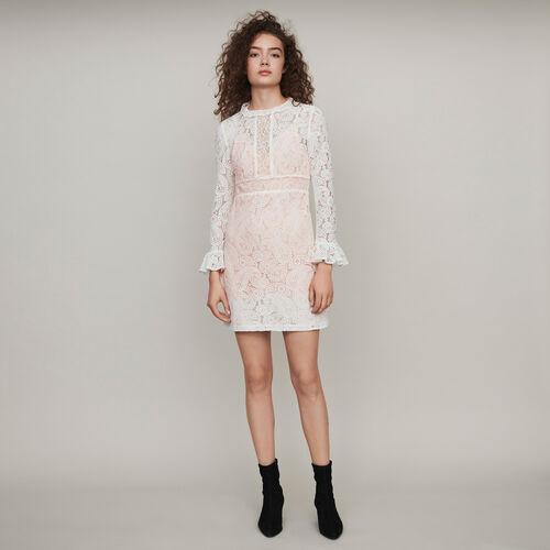 마쥬 원피스 MAJE 119RILINE Robe A motif cachemire,ECRU