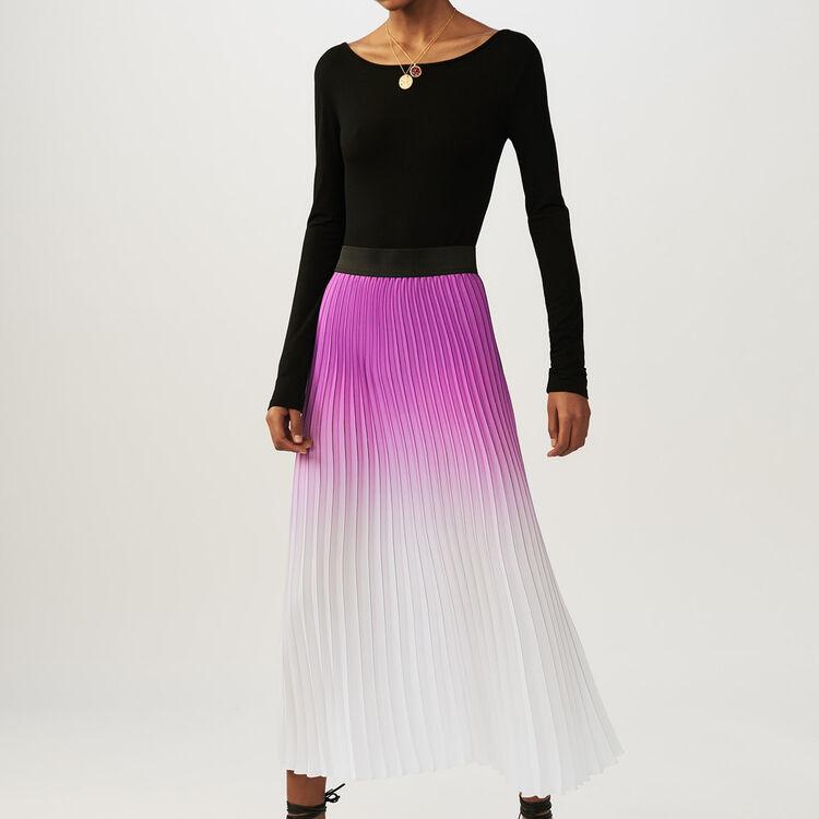 18 S/S 마쥬 조나엘 플리츠 스커트 (바이올렛) MAJE JONAEL - Jupe plissee tie and dye - Jupes & Shorts