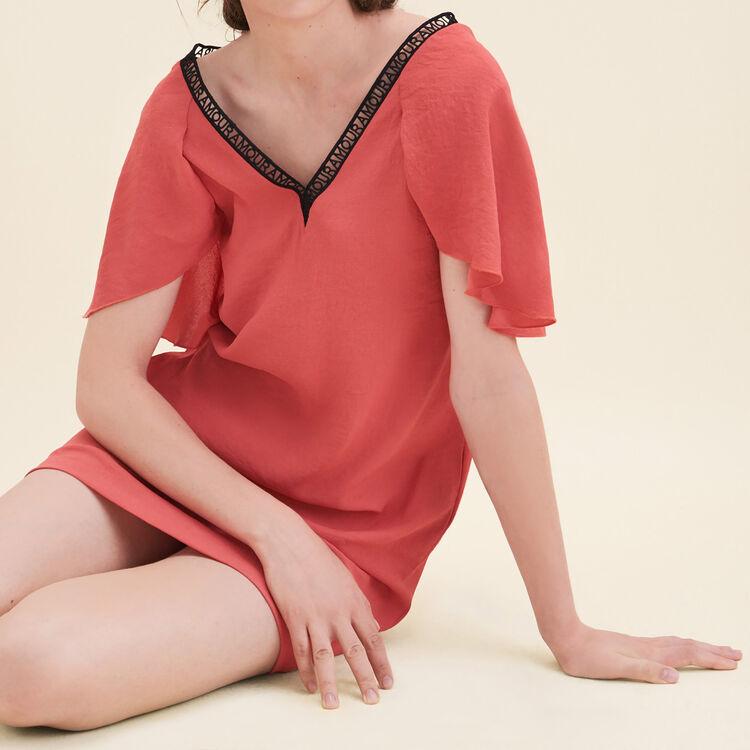 Robe droite en crêpe - Robes - MAJE