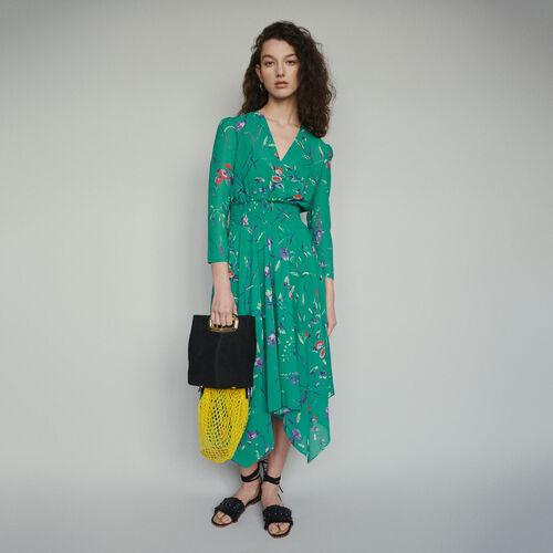마쥬 RAYEMA 비대칭 플로럴 원피스 (이시영 착용) MAJE RAYEMA Robe longue A imprime floral,IMPRIME