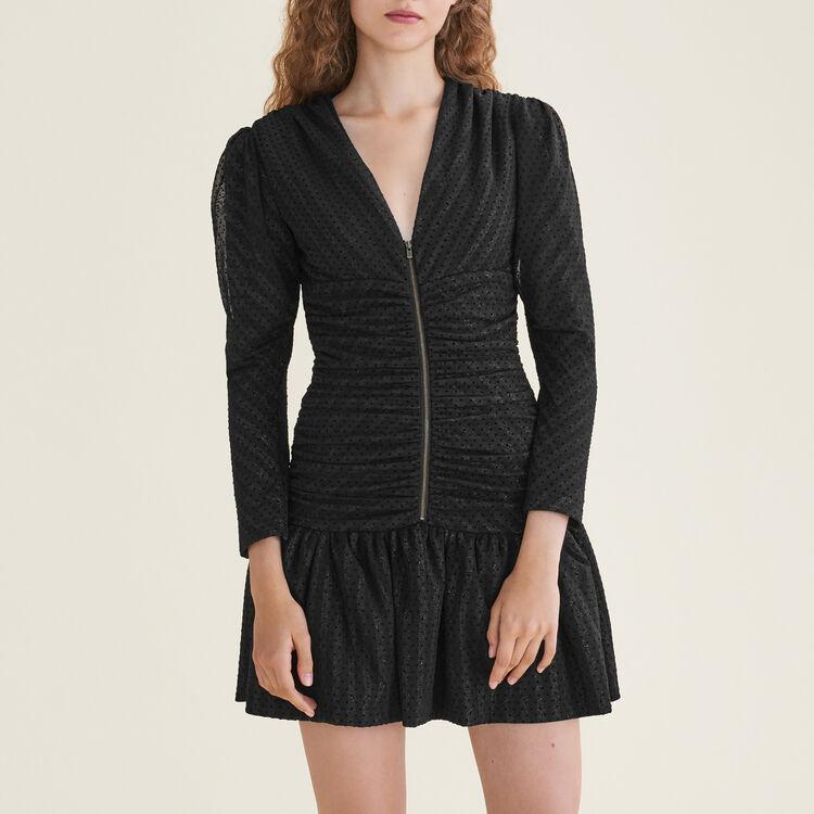 Robe courte drapée - Robes - MAJE