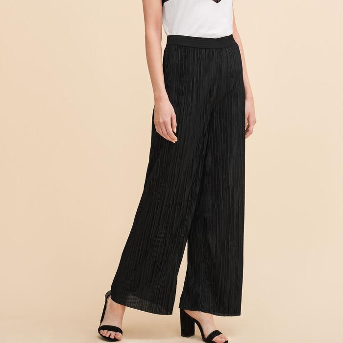 Pantalon plissé réversible -  - MAJE