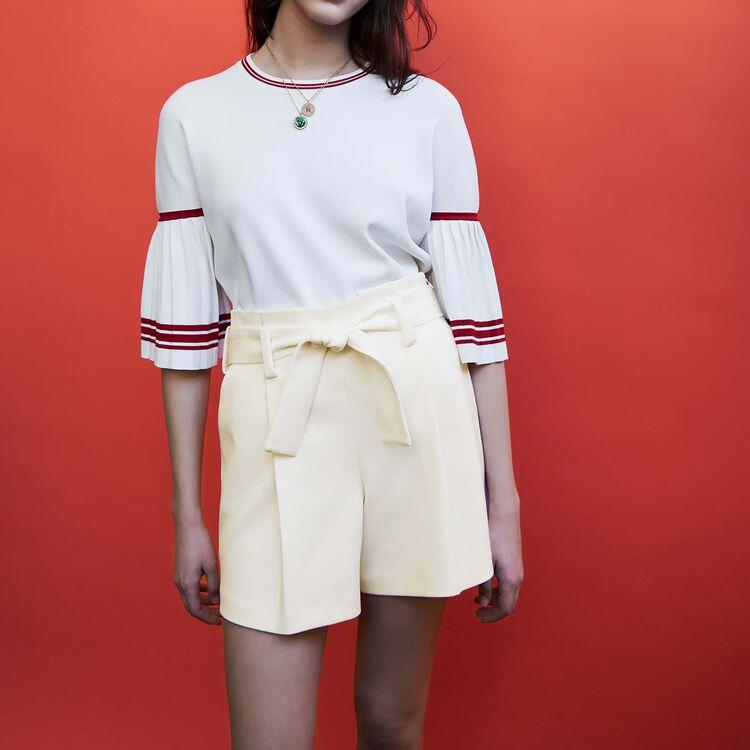 마쥬 반바지 MAJE ILANO - Short taille haute en crepe - Jupes & Shorts