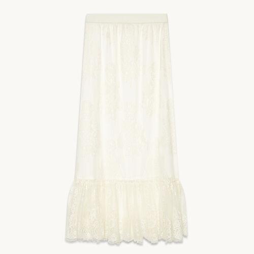 Jupe longue en dentelle - Jupes & Shorts - MAJE