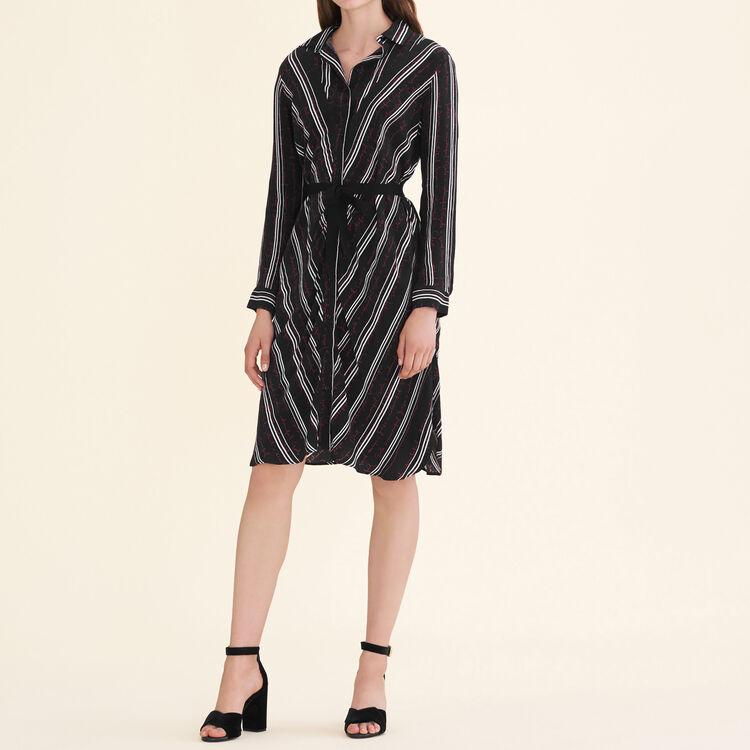 Robe chemise imprimée - Robes - MAJE