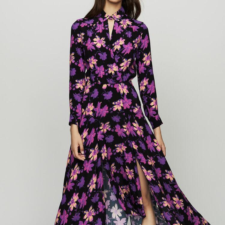 마쥬 원피스 MAJE RITUNIA Robe longue asymetrique a imprime floral,Imprime