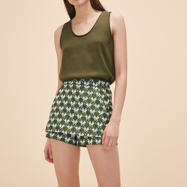 Short-jupe en jacquard - Jupes & Shorts - MAJE