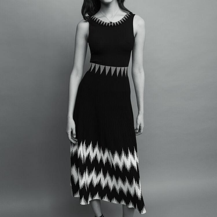 마쥬 RUCHE 롱 니트 원피스 (손예진 착용 롱버전) MAJE RUCHE - Robe longue sans manches en maille - Robes