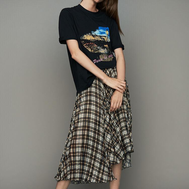 마쥬 MAJE TARA Tee-shirt oversize en coton,Black