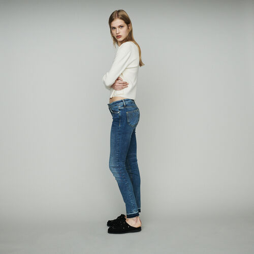 마쥬 MAJE PROBIN Jean slim en coton stretch,Denim
