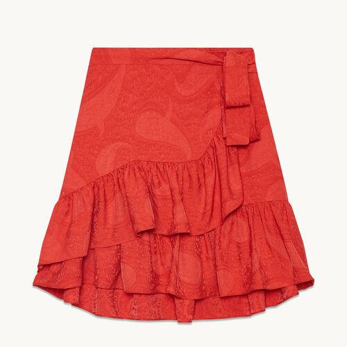 Jupe portefeuille avec volants - Jupes & Shorts - MAJE