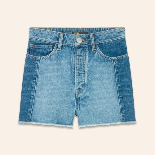 Short en denim esprit patchwork - Jupes & Shorts - MAJE