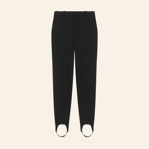 Pantalon fuseau en crêpe - Pantalons - MAJE