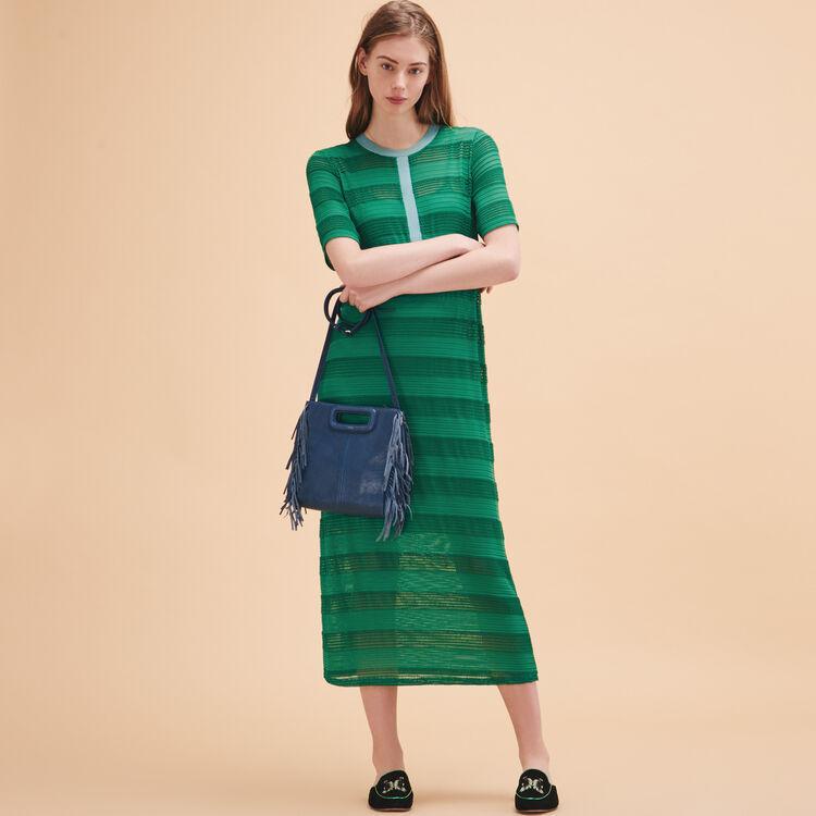 Robe longue en lacet tricoté - Robes - MAJE