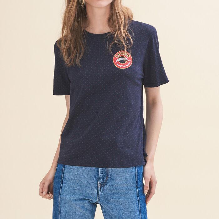 Tee-shirt brodé Mardi -  - MAJE
