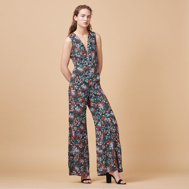 Combinaison-pantalon imprimée - Pantalons - MAJE