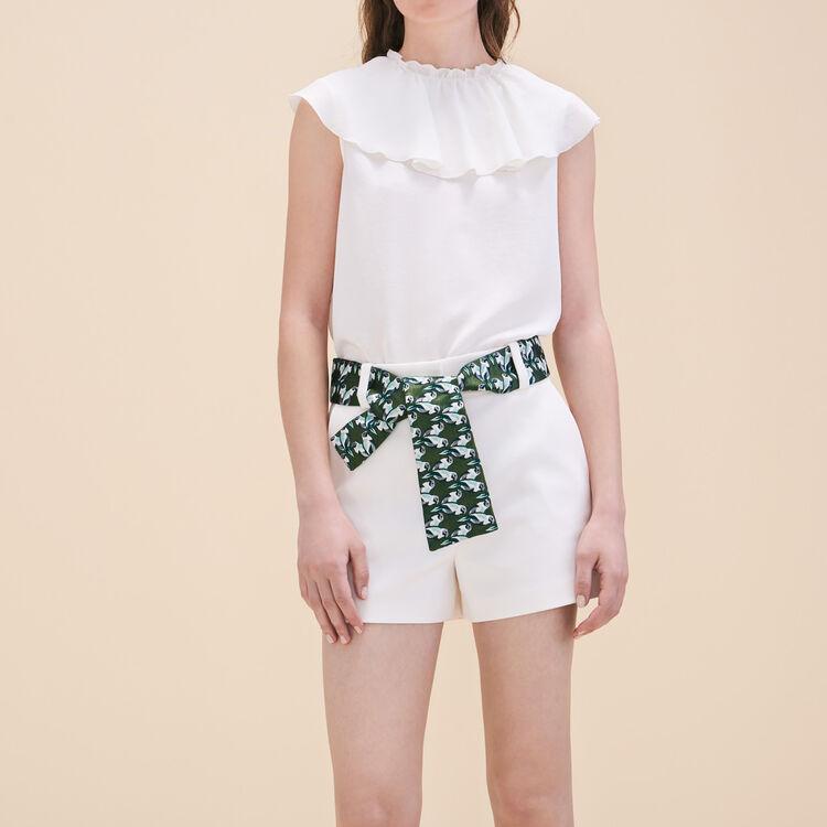 Short avec ceinture jacquard - Jupes & Shorts - MAJE