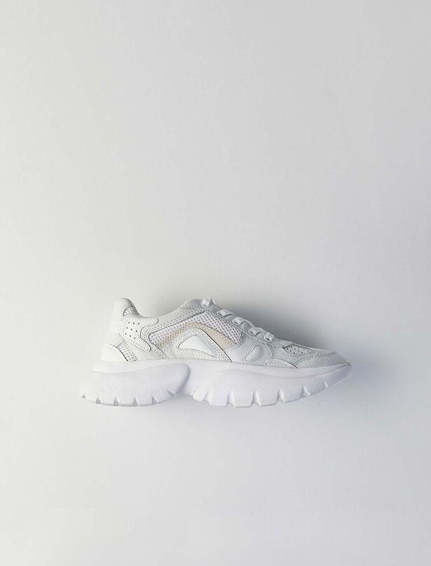 마쥬 W20 어글리슈즈 MAJE Sneakers urbaines en cuir,Blanc