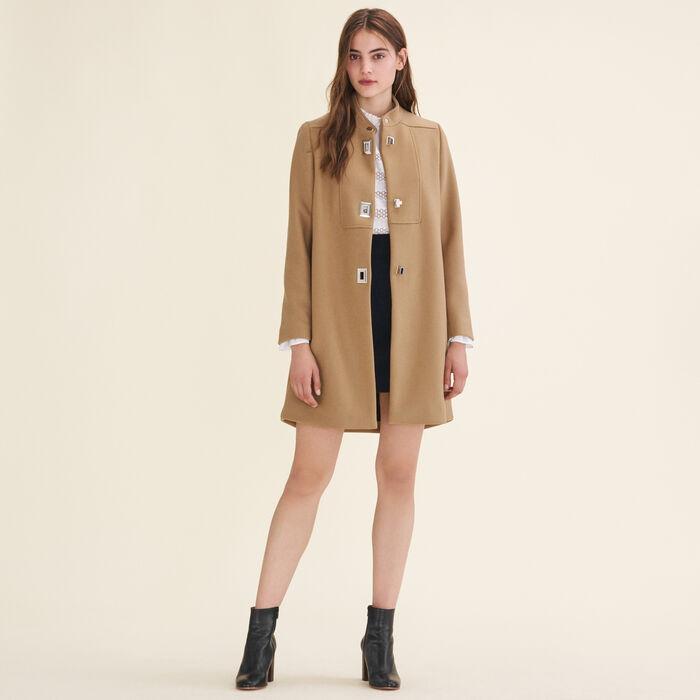 Manteau à fermoirs fantaisie -  - MAJE