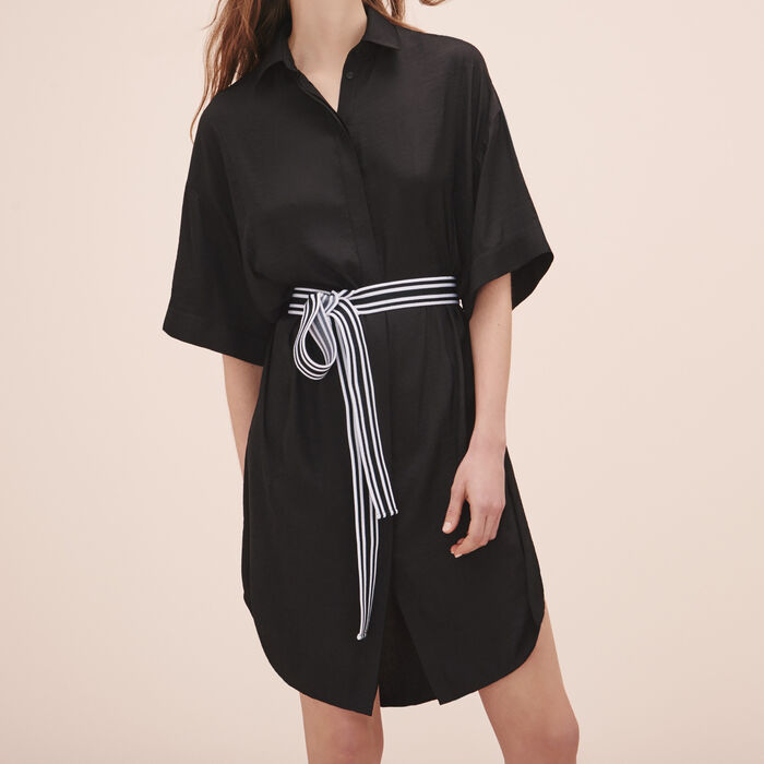 Robe chemise fluide - Robes - MAJE