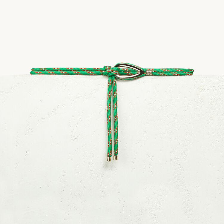 Ceinture en corde avec bijou - Ceintures - MAJE