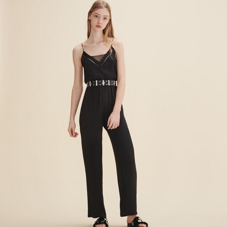 Combinaison-pantalon en crêpe - Pantalons - MAJE