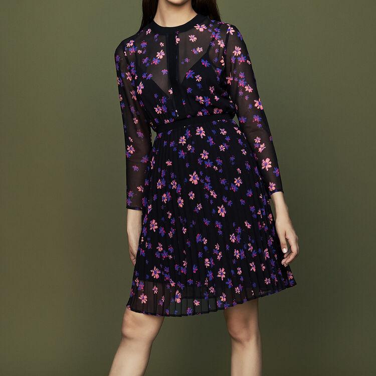 마쥬 RIVOLINE 플라워 프린티드 원피스 [30% 할인] MAJE RIVOLINE Robe imprimee avec jupon plisse,IMPRIME