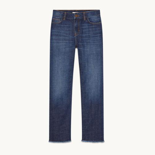 Jean droit en coton stretch - Jeans - MAJE