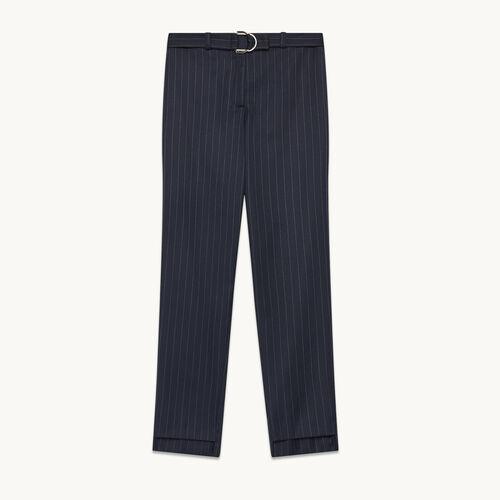 Pantalon de tailleur à rayures tennis - Pantalons - MAJE