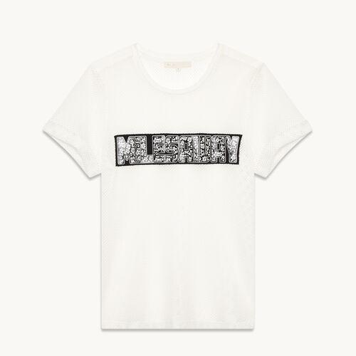 Tee-shirt en résille - Hauts - MAJE