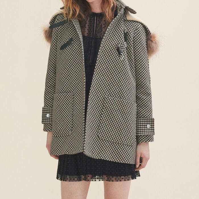 Manteau à carreaux -  - MAJE