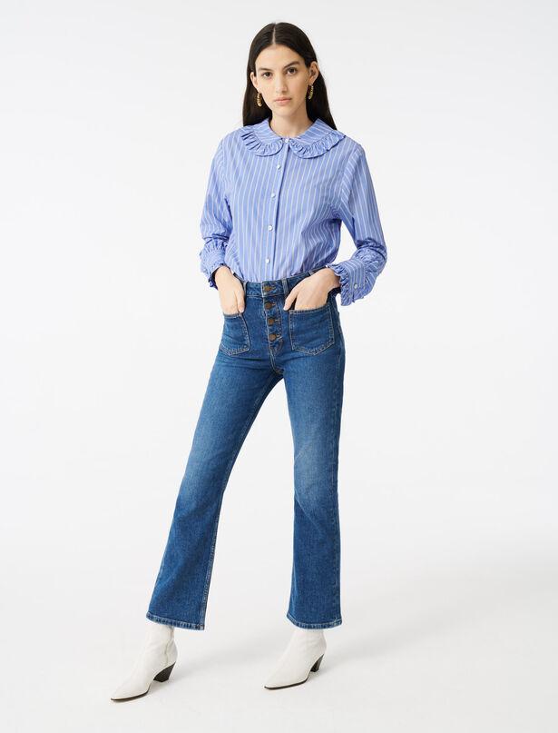 마쥬 MAJE Jean A poches,Bleu