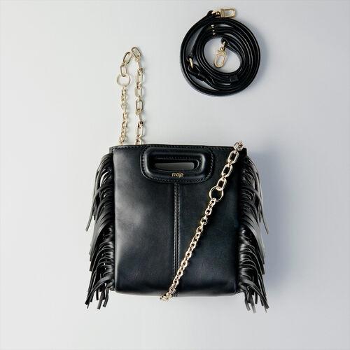 마쥬 M 미니 가방 MAJE 119MMINI LEA CHAIN Sac M Mini en cuir avec chaine,Noir